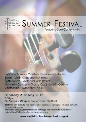 Summer Festival 2016 flyer