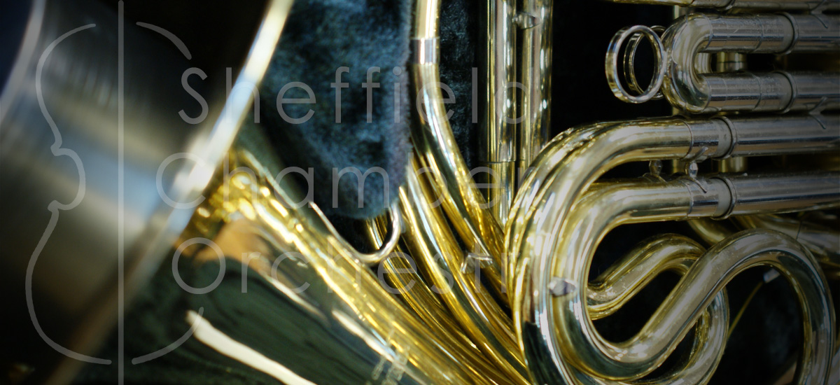 SCO logo and french horn