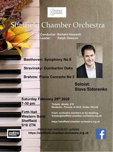 SCO concert flier February 2020